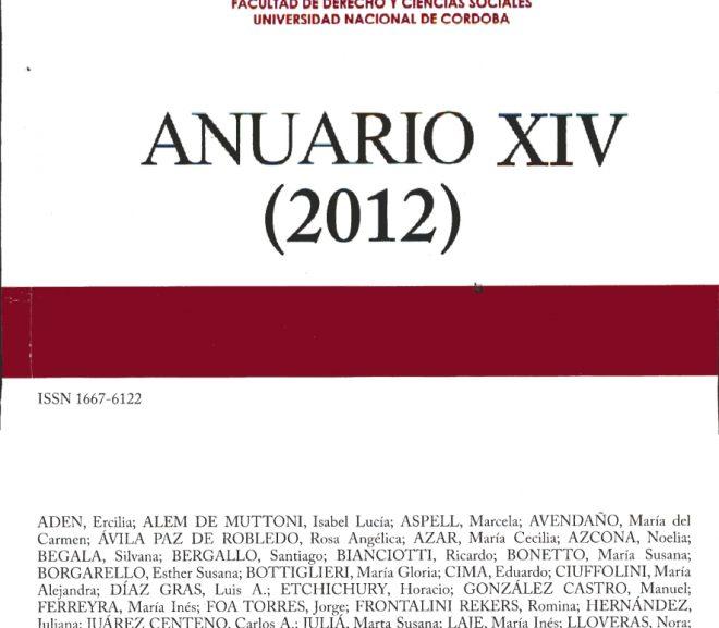 Anuario XIV