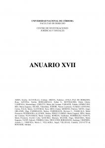 Anuario XVII