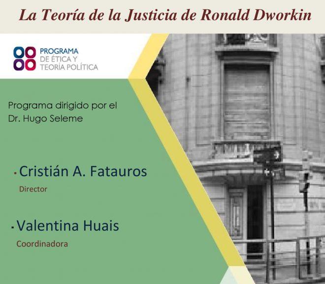 SEMINARIO «Igualdad. La Teoría de la Justicia de Ronald Dworkin»