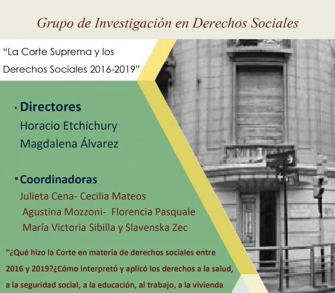 Seminario «La Corte Suprema y los derechos sociales: 2016-2019»