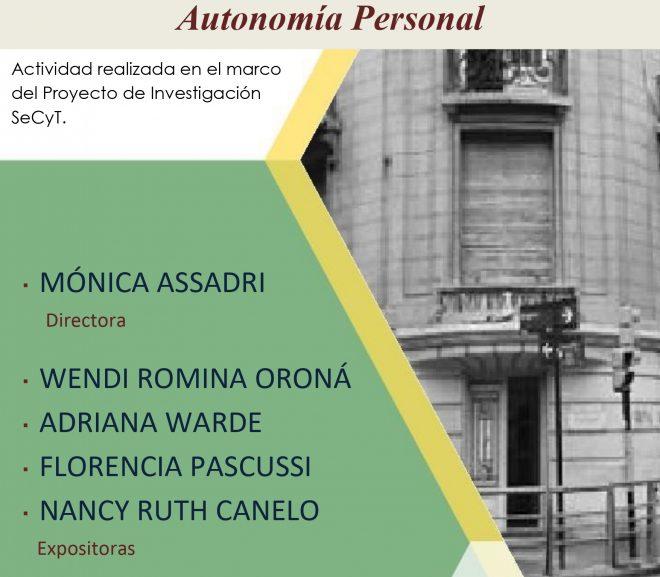 Seminario: Las instituciones de familia a la luz de la autonomía personal
