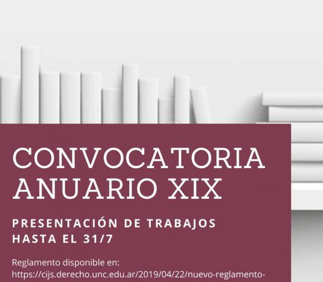 Convocatoria Anuario XIX